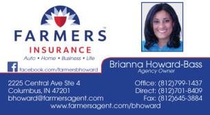 Rachel yancer farmers insurance business card colourmoves
